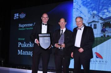 Pukeko Rental Managers Westpac Franchise Award David Pearse