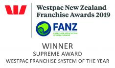 supreme award Franchise system of the year 2